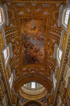 Soffitto Affrescato - Chiesa dei Santi Ambrogio e Carlo al Corso - sec.XVII (Roma)