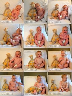 Take a photo of baby with the same stuffy every month for the first year.