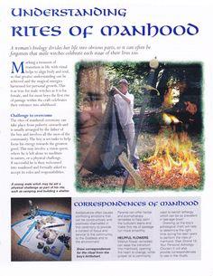 Book of Shadows:  #BOS Understanding Rites of Manhood page.