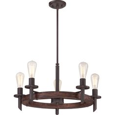 Tavern Darkest Bronze 5-light Chandelier - 16211476 - Overstock.com Shopping - Great Deals on Quoizel Chandeliers & Pendants