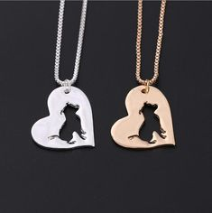 Fashion pit bull dog puppy pets pendants Necklaces Clavicle pitbull dogs hearts charms animals lover girl Womens Jewelry gifts