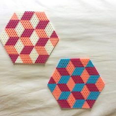 Geometric coasters perler beads by gre3nlite