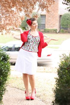 Those shoes go great for this outfit - for Wear Red Day #TweetGoneRedFor