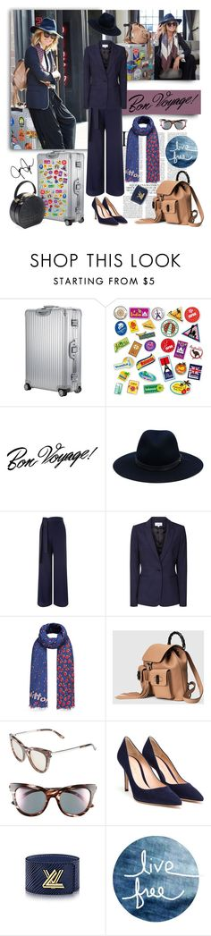"""""""Bon Voyage"""" by jacque-reid ❤ liked on Polyvore featuring DuÅ¡an, Rimowa, rag & bone, Miss Selfridge, Reiss, Gucci, Le Specs, Gianvito Rossi, Modern Vintage and BUwood"""