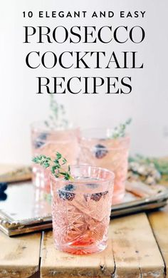 Cool summer drinks - simple cocktails for children (and mums) - MamaKreativMake berry punch yourself - quickly and easily. Recipes for refreshing soft drinks and cocktails for the Elegant and Easy Prosecco Cocktail RecipesWhip Prosecco Cocktails, Easy Cocktails, Cocktail Drinks, Cocktail Party Food, Vodka Martini, Simple Cocktail Recipes, Raspberry Cocktail, Pink Cocktails, Bourbon Drinks