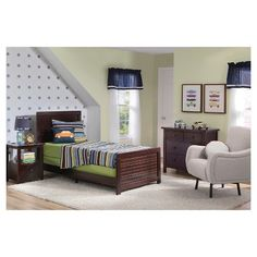 Kendall Grey Twin Panel Bed W Single 3 Drawer Storage Unit