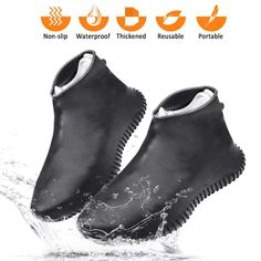 Reusable Rain Gear Boots Snow Overshoes Tightly Wrapped Feet Frog Fun//s.Choice Silicone Waterproof Shoe Cover