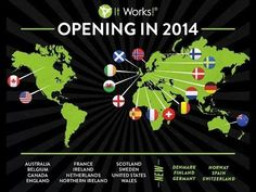 It Works Global and It Works Body Wraps will be in Denmark, Finland, Germany, Spain, Norway and Switzerland! **Starting Feb 1st It Works Global will be accepting It Works loyal customers and It Works Distributors in Denmark, Finland, Germany, and Spain! Be one of the first to offer the exclusive It Works body wrap in your country. http://newlifebodywraps.myitworks.com/  Starting March 1st ItWorks Global will be accepting ItWorks loyal customers and ItWorks distributors in Norway and…