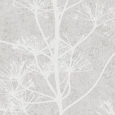 обои Borastapeter Borosan Easy Up 2014 37703  Серый Белый Цветы/растения