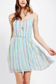 48cf622f690 Pins And Needles Chiffon Flutter-Back Dress