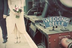 vintage train station wedding  Unique custom wedding invitations by Nellia Designs  www.nellybean.etsy.com  www.nelliadesigns.com