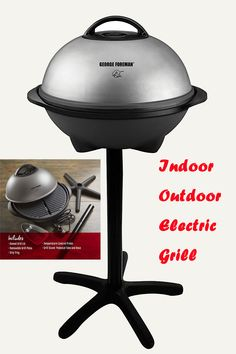 Outdoor Electric Grill, Grill Plate, George Foreman, Indoor Outdoor, Outdoor Decor, Charcoal Grill, Cooking Utensils, Kitchen, Crickets