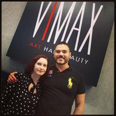 Mirian c/ Viktor I embaixador da linha Cuide-se Bem de O Boticário! #oboticario #vimax #cabelo #hair