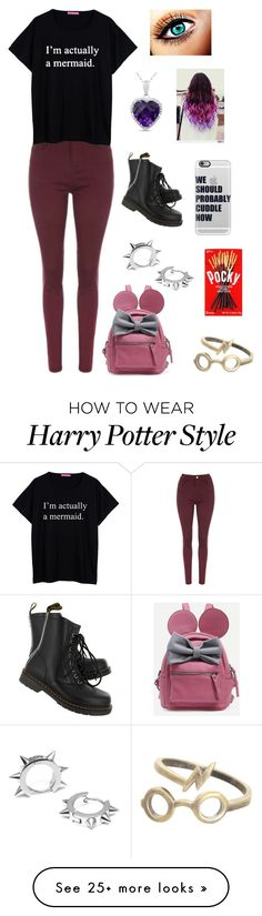 """""""Untitled #146"""" by harrypotatogirl on Polyvore featuring Dr. Martens, Casetify and Maria Francesca Pepe"""