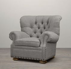 Churchill Upholstered Chair with Nailheads | Chairs | Restoration Hardware