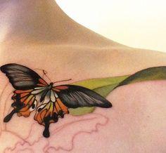 Such an elegant butterfly by Amanda Wachob #butterfly #elegant #tattoo