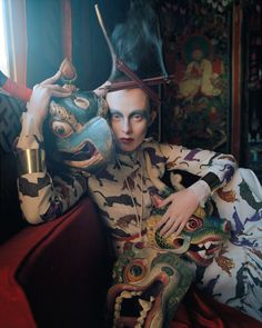 """In The Land of Dreamy Dreams"" | Model: Karen Elson, Photographer: Tim Walker, Vogue UK, May 2015"