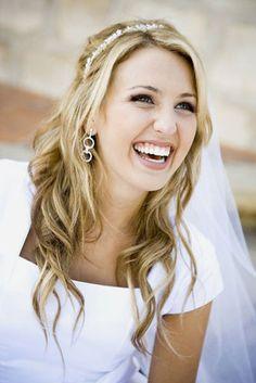 Peinado de novia: el pelo suelto