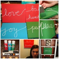 DIY Christmas Canvas Art.