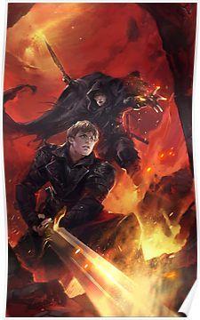 """BBC Merlin: The Dragon Rises (cover)"" Posters by mushroomtale Mordred Merlin, King Arthur Merlin, Merlin Dragon, Merlin Fanfiction, Merlin Series, Tv Series, Bbc, Dragon Rise, Merlin Fandom"