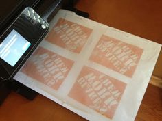 Two It Yourself: DIY tutorial: Transfer Ink to Wood or Fabric using wax paper and an inkjet printer