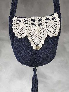 Pineapple Trimmed Bag Crochet Pattern - free membership required