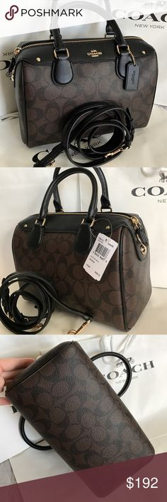 Coach Purse 100% Authentic Coach Purse Crossbody, brand new!.color Dark Brown/Black. Coach Bags Crossbody Bags