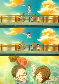 Arima Kousei y Tsubaki niños