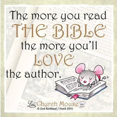 Amen to that! #LittleChurchMouse