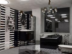 Art deco style bathroom 3d visual plan