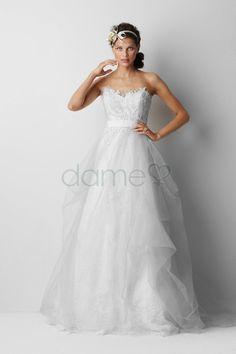 Tüll A-Linie Schmetterlingsknoten Schatz Ausschnitt ärmelloses rückenfreies bodenlanges Brautkleid