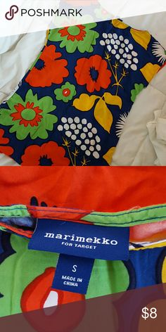 MARIMEKKO FOR TARGET TUNIC too small Used but in good condition.  Size small. Marimekko Tops