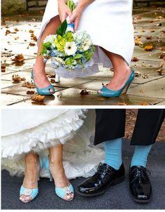 Confesiones de una boda: Novias con zapatos de colores (parte 1): azul y rosa