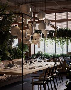 21 Epic & Successful Restaurant Interior Design Examples Around the World Restaurant Furniture, Restaurant Interior Design, Design Hotel, Restaurant Interiors, Bar Interior Design, Design Suites, Interior Shop, Interior Office, Studio Interior