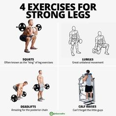 So you want tree trunks for legs? If you want strong and muscular legs, you absolutely need to be training them intensely and intelligently in the gym, at home, at the park or wherever else you workout. Here are some of my favourite leg exercises to give you not only beastly looking legs, but to develop functional performance! Check out this article for men and women compiled with exercises!