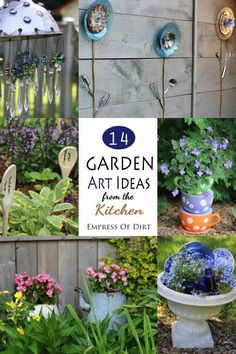 14 Creative ideas for turning kitchen items into art for your garden. #ad