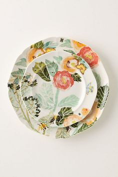 Watercolor Petals Dinnerware #anthrofave