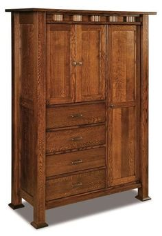 Amish Sequoyah Chifforobe Combine closet space with drawers and a cabinet in the stunning Sequoyah. Built in the wood and stain you choose. Picture this beauty in your master bedroom or guest room, storing your clothing, blankets and accessories. #chifforobe #wardrobe #bedroomstorage