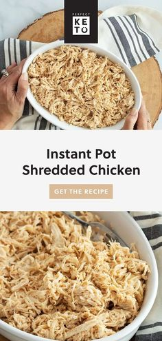 Use Instant Pot shredded chicken to make chicken salad, soup, BBQ chicken, casseroles, tacos, and more. This easy instant pot recipe is versatile and delicious. | #keto #KetoLifestyle #WeightLoss #FatLoss #Health #Healthy #HealthyLiving #HealthyLifestyle Shredded Chicken Tacos, Bbq Chicken, Chicken Salad, Real Food Recipes, Keto Recipes, Bbq Seasoning, Healthy Vegetable Recipes, Metabolic Diet, Those Recipe