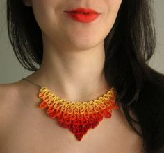 1st Anniversary Gift Egyptian Jewelry Paper Necklace by SbirOtak