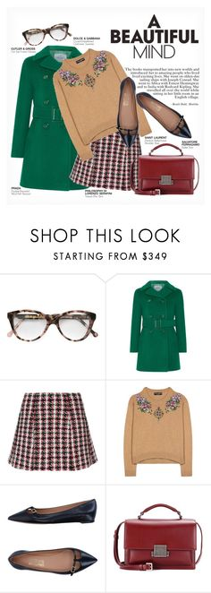 """""""A BEAUTIFUL MIND"""" by paint-it-black ❤ liked on Polyvore featuring Cutler and Gross, Prada, Philosophy di Lorenzo Serafini, Dolce&Gabbana, Salvatore Ferragamo, Yves Saint Laurent and librarychic"""