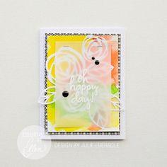 Die cut Vellum card, by Julie