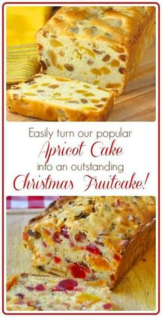 Apricot Fruitcake Apricot Light Fruitcake – This light fruitcake recipe takes our very popular Apricot Raisin Cake and turns it into a moist and delicious Christmas fruitcake. Christmas Cooking, Christmas Desserts, Christmas Fruitcake, Christmas Cakes, Holiday Cakes, Christmas Foods, Food Cakes, Cupcake Cakes, Fruit Cakes