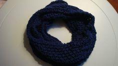 Lace Knit Navy Blue Infinity Scarf by bbsnkz on Etsy, $25.00