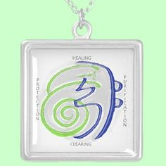 This necklace has the Reiki symbols for healing, purification, protection and clearing. Please enjoy.