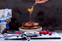 Healthy Berry and Banana Pancakes