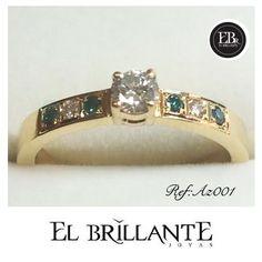 Los diamantes azules son únicos, inolvidables y para toda la vida. Regala un anillo de compromiso con diamantes azules!  http://www.elbrillantejoyeria.com.co/tienda/ref-az001/  Anillos de compromiso y argollas de matrimonio  #ElBrillanteJoyas