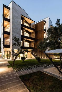 Modern Apartment Architecture Design 2018 41 - Pin This Building Exterior, Building Facade, Building Design, Green Building, Design Exterior, Facade Design, House Design, Architecture Design, Modern Residential Architecture