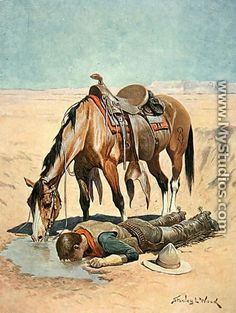 Giclee Print: The Water Hole Wall Art by Stanley L. Wood by Stanley L. Cowboy Horse, Cowboy Art, Western Cowboy, Real Cowboys, Cowboys And Indians, Cowboy Pictures, West Art, Le Far West, Horse Art