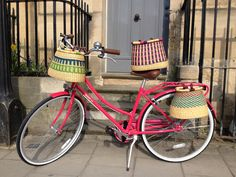 The bike basket is woven from veta vera grass in the Northern region of Ghana.  £65 @exrootsoxford  http://on.fb.me/10DuO84